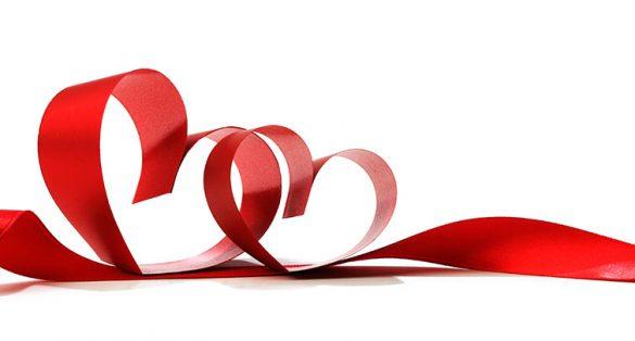 ribbons forming heart symbols