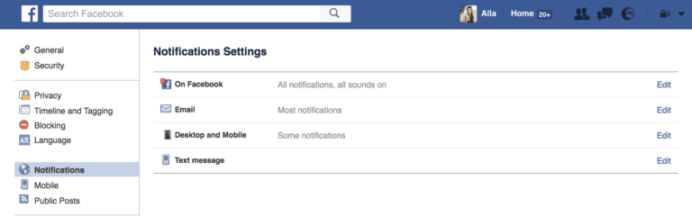 Social Media Marketing Facebook Notifications