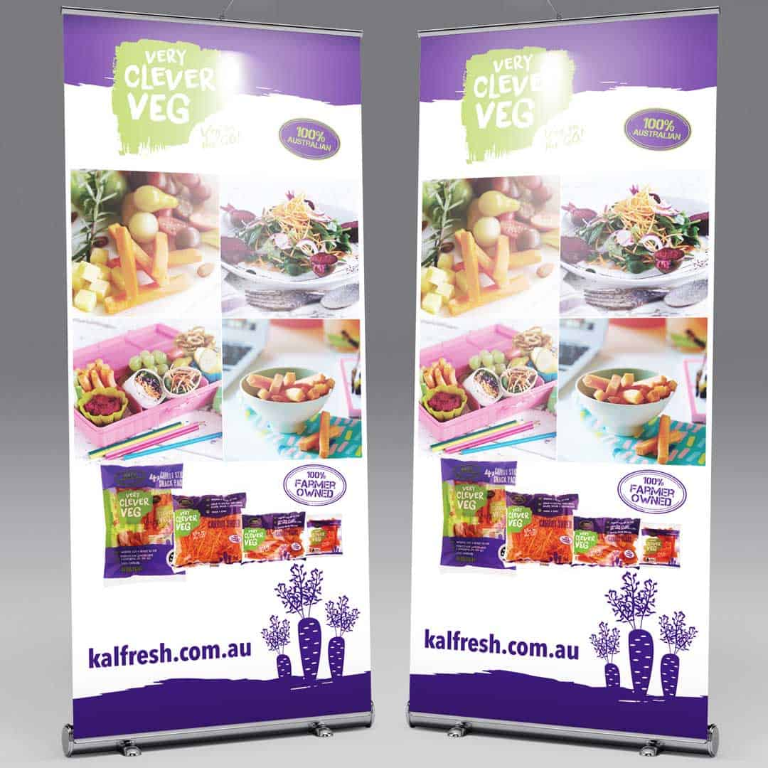 Pullup banner artwork design kalbar