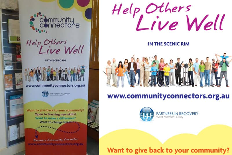 Community Connectors Pullup Banner Design Boonah