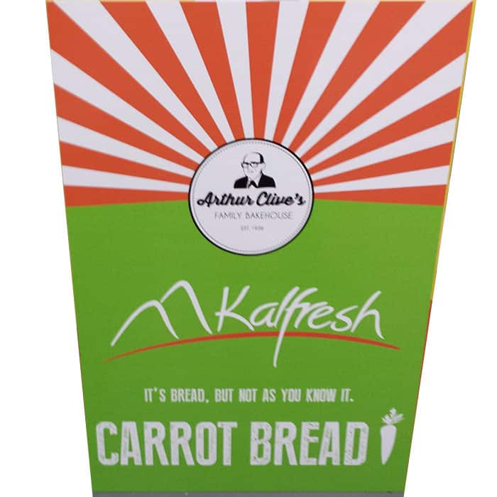 kalfresh carrot bread corflute signs