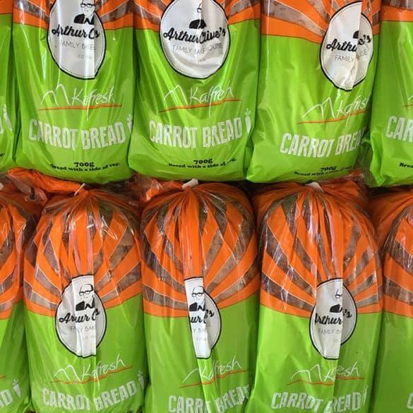 kalfresh carrot bread packaging design