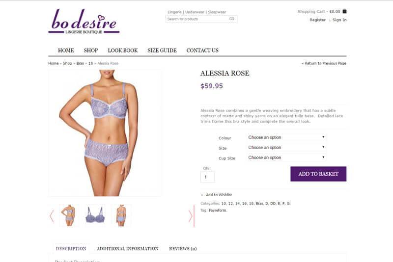lingerie ecommerce store beaudesert