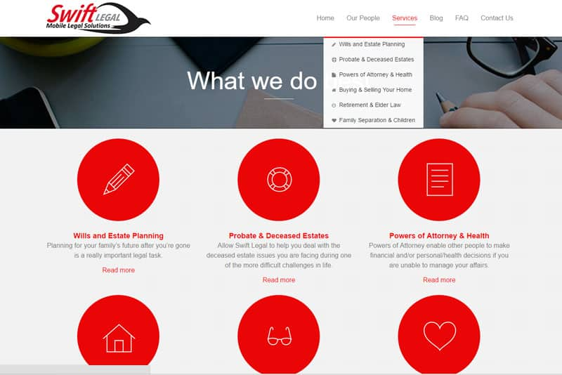 solicitor business website design