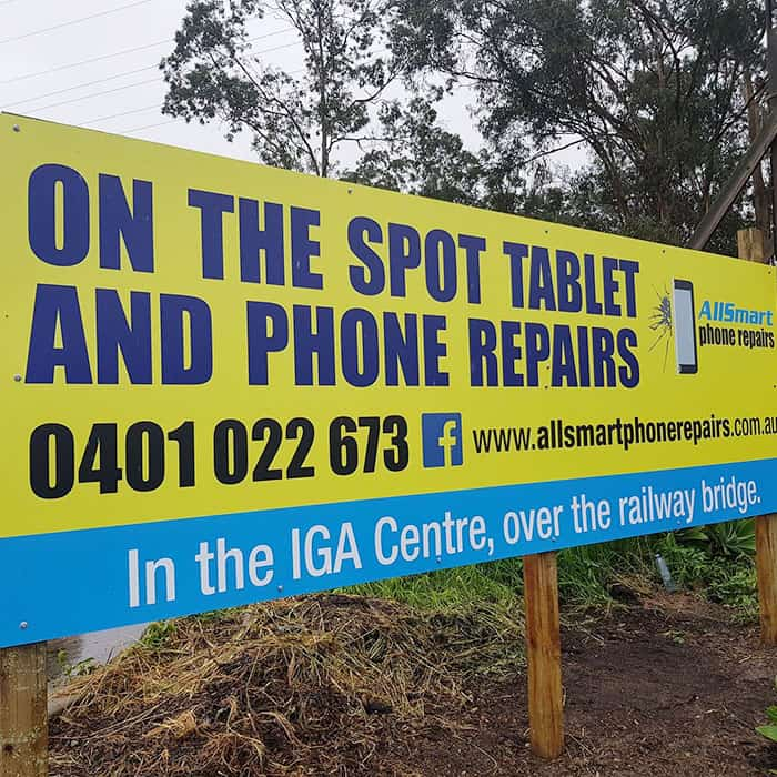 all smart phone repairs road sign